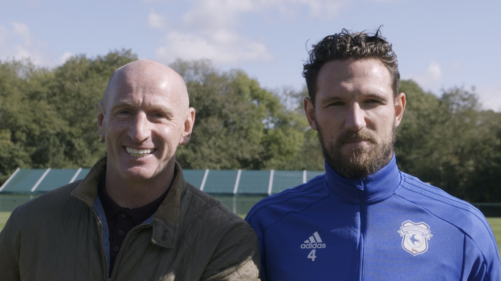 Gareth Thomas and Sean Morrison