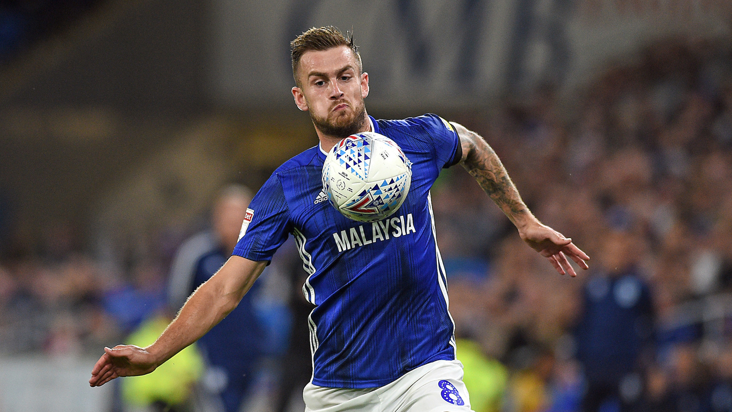 Joe Ralls in action vs. Huddersfield Town